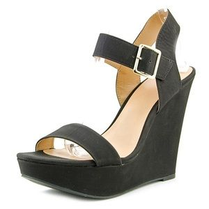 Mix No. 6 Black Wedge Heels